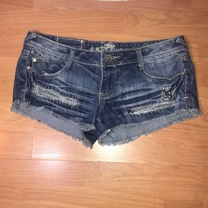 Almost Famous Denim Shorty Shorts